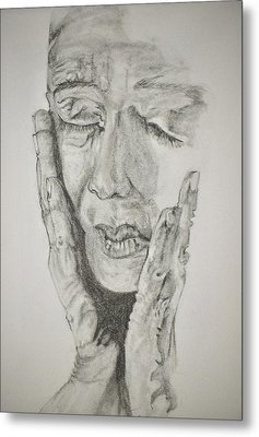 Lady With Hands Metal Print by Glenn Calloway