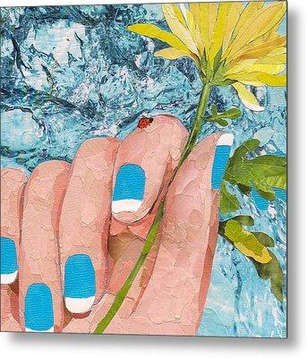 Ladybug Metal Print by Robin Birrell