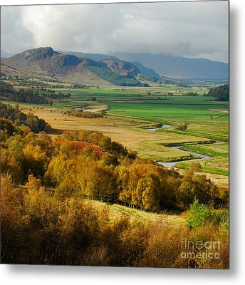 Laggan Autumn - The Clan Mcphersons Seat Metal Print by John Kelly