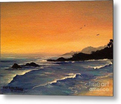 Laguna Sunset Metal Print by Barbara Gilroy