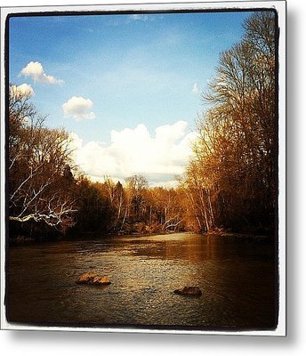 #lake #creek #nature #ohio Metal Print by  Abril Andrade Griffith