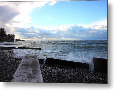 Lake Erie Fall Metal Print by Kevin Schrader