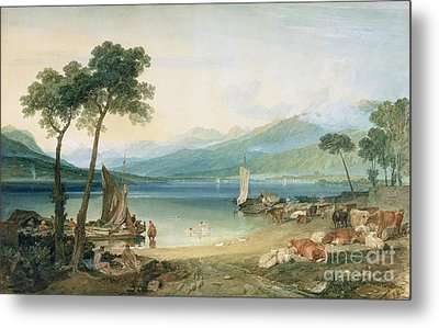 Lake Geneva And Mont Blanc Metal Print by Joseph Mallord William Turner
