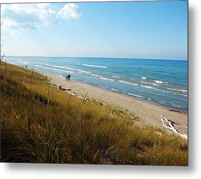 Metal Print featuring the mixed media Lake Huron Shoreline by Bruce Ritchie
