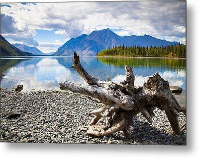 Lake Kathleen In Kluane National Park Metal Print by Blake Kent