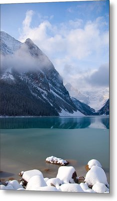 Lake Louise  Canada Metal Print by Serene Maisey