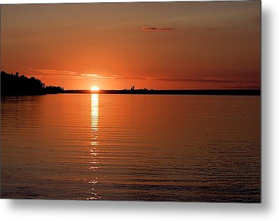 Metal Print featuring the photograph Lake Manitoba Sunset by Scott Holmes