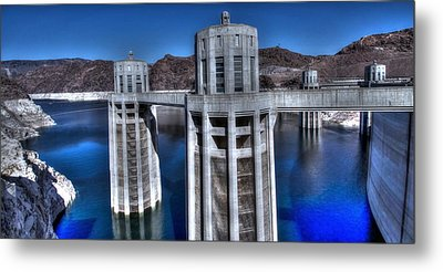 Metal Print featuring the photograph Lake Mead Hoover Dam by Jonathan Davison