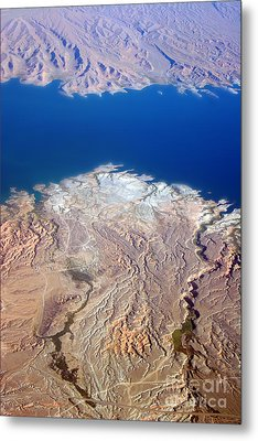 Lake Mead Nevada Aerial Metal Print by James BO  Insogna