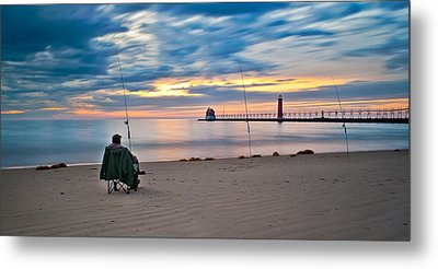 Lake Michigan Fishing Metal Print