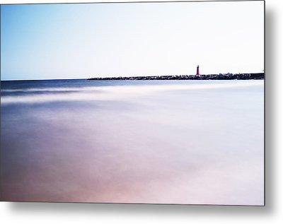Lake Michigan Lighthouse Metal Print