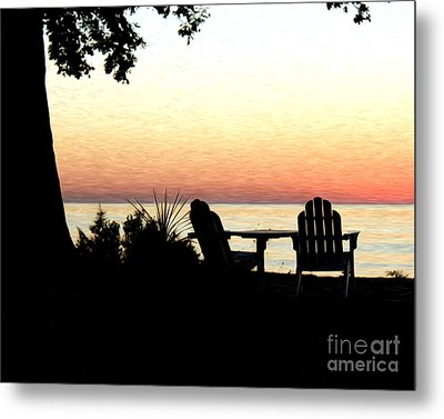 Metal Print featuring the photograph Lake Michigan Sunset by Anne Raczkowski