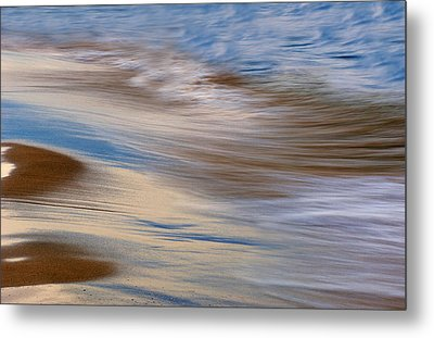 Lake Michigan Surf Metal Print by Dean Pennala