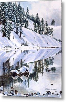 Lake Moraine Oregon Metal Print by Sharon Freeman