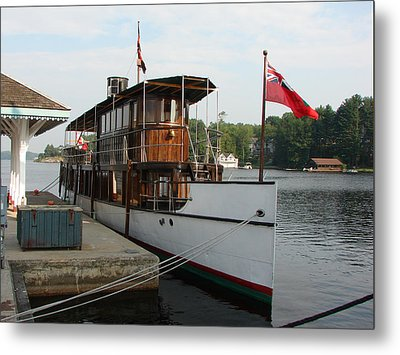 Metal Print featuring the mixed media Lake Muskoka Steamer by Bruce Ritchie
