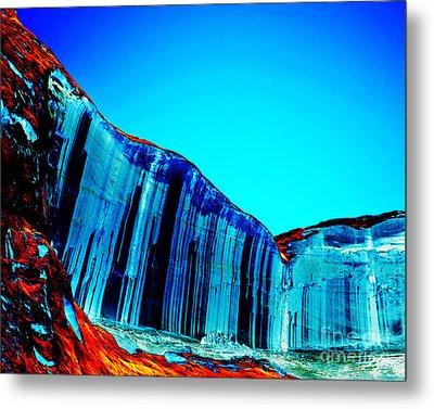 Lake Powell Blue Ice Metal Print by Rebecca Margraf