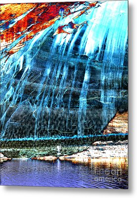 Lake Powell Reflection Metal Print by Rebecca Margraf