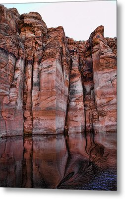 Lake Powell Water Canyon Metal Print by Jon Berghoff