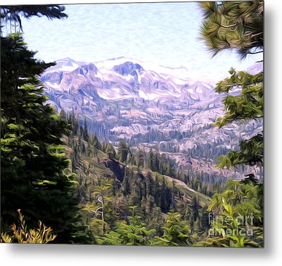 Metal Print featuring the photograph Lake Tahoe Mountains by Anne Raczkowski