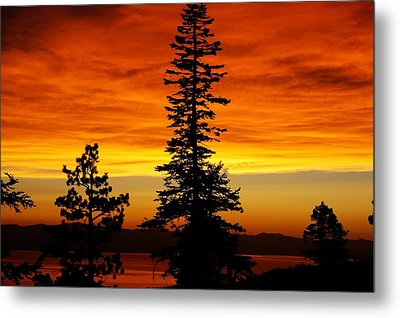 Lake Tahoe Sunset Metal Print by Bruce Friedman