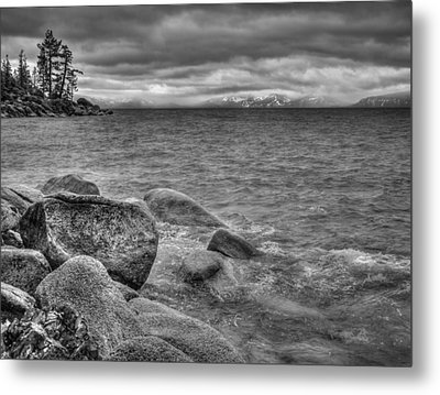 Lake Tahoe Winter Storm Metal Print by Scott McGuire