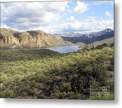 Metal Print featuring the photograph Lake View From Arizona Hwy by Leslie Hunziker