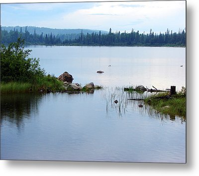 Metal Print featuring the mixed media Lake West Of Wawa by Bruce Ritchie