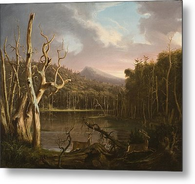 Lake With Dead Trees  Metal Print