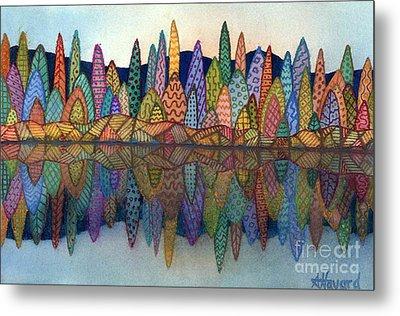 Lakeside Reflection Metal Print by Anne Havard