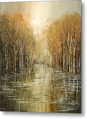 Metal Print featuring the painting Lakeside Song by Tatiana Iliina