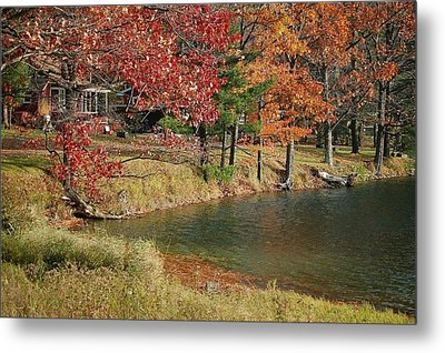 Metal Print featuring the photograph Lakeside View by Sarah McKoy