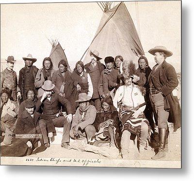 Lakota Brul�, Miniconjou, And Oglala Metal Print by Everett