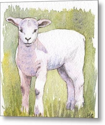 Lamb Metal Print by Maureen Carter