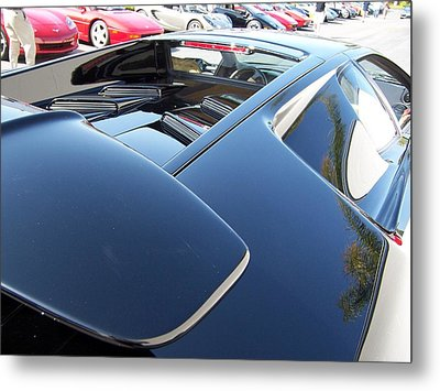 Metal Print featuring the photograph Lambo Spoiler by Carolina Liechtenstein