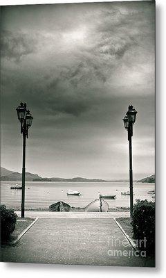 Lamps On Lake Metal Print by Silvia Ganora