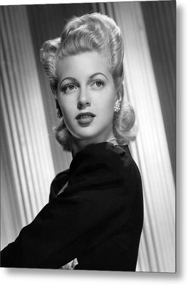 Lana Turner, Ca. 1940s Metal Print by Everett