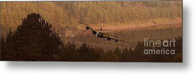 Lancaster Over The Dams Metal Print by Nigel Hatton