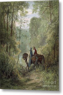 Lancelot & Guinevere Metal Print