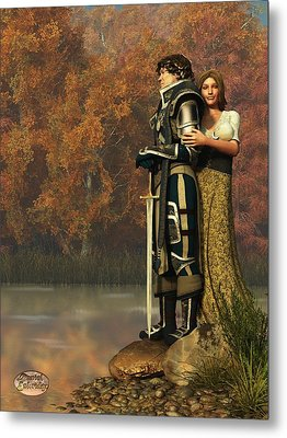 Lancelot And Guinevere Metal Print by Daniel Eskridge