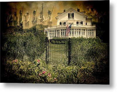 Land Of The Free..home Of The Brave Metal Print by Robin-Lee Vieira