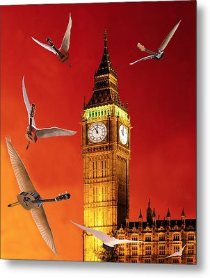 Landing In London Rocks Metal Print by Eric Kempson