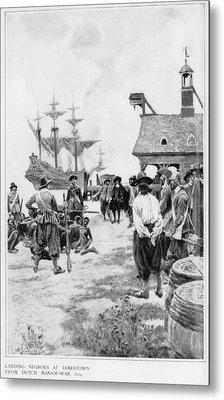 Landing Of 20 African Captives Metal Print by Everett