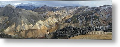 Metal Print featuring the photograph Landmannalaugar Panorama 1 by Rudi Prott