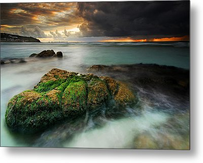 Metal Print featuring the painting Lands End by John Chivers