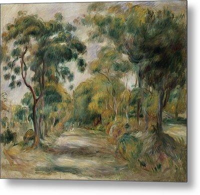 Landscape At Noon Metal Print by  Pierre Auguste Renoir