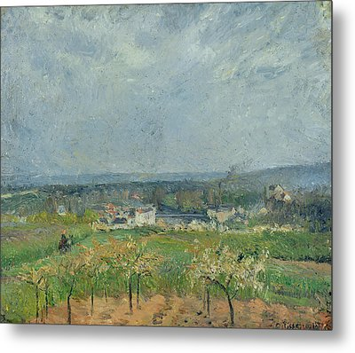 Landscape In Pontoise Metal Print by Camille Pissarro