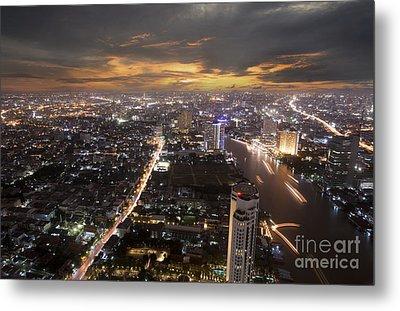 Landscape Of Bangkok Metal Print by Anek Suwannaphoom