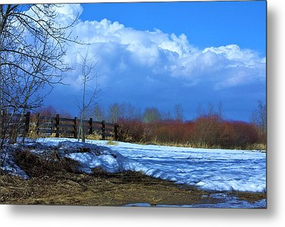 Landscape  Snow Scene Metal Print by Johanna Bruwer