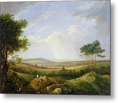 Landscape With Figures  Metal Print by Captain Thomas Hastings
