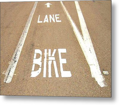 Lane Bike Metal Print by Jenny Senra Pampin